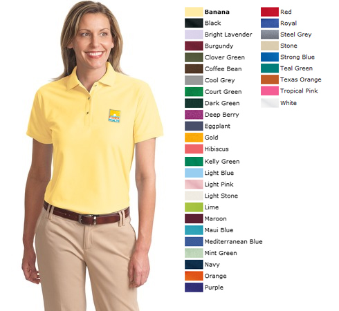 L500 Available in 32 Colors Large Royal Port Authority Ladies Silk Touch Sport Shirt