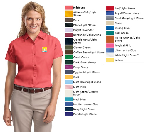 2784a886 L508 Port Authority Ladies Short Sleeve Easy Care Shirt | DOH Shirts ...